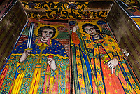 17th century frescoes, Old Church of St. Mary Zion, Axum (Aksum), Ethiopia.