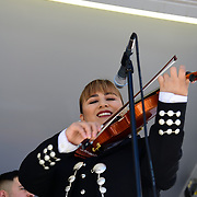 Mariachi Tesoro de Tucson performs on the Banner University Medical Center stage.