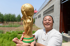 Farmer Makes Clay Sculpture of FIFA World Cup Trophy - 11 June 2018