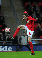 Photo: Tony Oudot/Richard Lane Photography. <br /> England v Switzerland. International Friendly. 06/02/2008. <br /> Peter Crouch of England strikes a pose