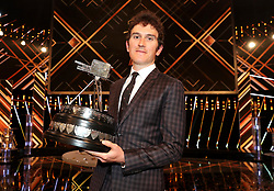 Geraint Thomas poses after winning the BBC Sports Personality of the Year award during the BBC Sports Personality of the Year 2018 at Birmingham Genting Arena.