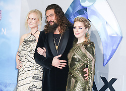 The cast of Aquaman arrives for the premiere Of Warner Bros. Pictures' 'Aquaman' at TCL Chinese Theatre in Hollywood, California. 12 Dec 2018 Pictured: Nicole Kidman, Amber Heard, Jason Momoa. Photo credit: Blindie/MEGA TheMegaAgency.com +1 888 505 6342