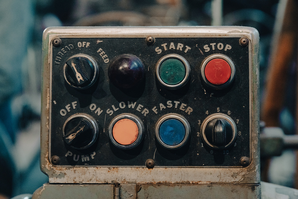 Factory drive controls on display in Waltham.
