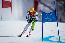 PYEONGCHANG-GUN, SOUTH KOREA - FEBRUARY 18: Stefan Hadalin of Slovenia competes during the Alpine Skiing Men's Giant Slalom at Yongpyong Alpine Centre on February 18, 2018 in Pyeongchang-gun, South Korea.Photo by Ronald Hoogendoorn / Sportida