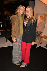 Sisters Tara Bernerd and Hayley Sieff at the 2017 PAD Collector's Preview, Berkeley Square, London, England. 02 October 2017.