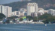 "Rio de Janeiro. BRAZIL.   2016 Olympic Rowing Regatta. Lagoa Stadium,<br /> Copacabana,  ""Olympic Summer Games""<br /> Rodrigo de Freitas Lagoon, Lagoa.   Tuesday  09/08/2016 <br /> <br /> [Mandatory Credit; Peter SPURRIER/Intersport Images]"