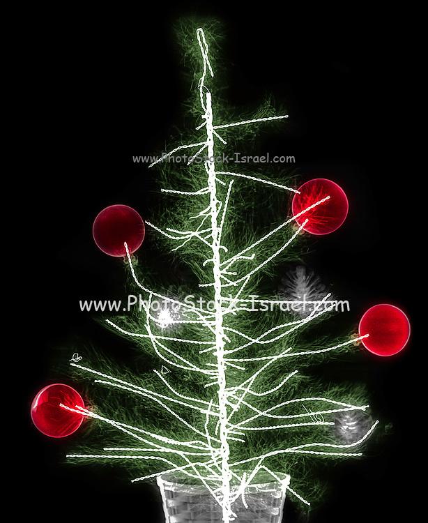 Christmas decoration under x-ray