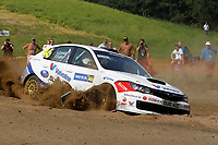 MOTORSPORT - WORLD RALLY CHAMPIONSHIP 2010 - NESTE OIL RALLY FINLAND / RALLYE DE FINLANDE - JYVASKYLA (FIN) - 29 TO 31/08/2010 - PHOTO : FRANCOIS BAUDIN / DPPI - <br /> ANDERS GRONDAL / VERONICA ENGAN - ANDERS GRONDAL WRC RALLY TEAM SUBARU IMPREZA WRX STI - ACTION