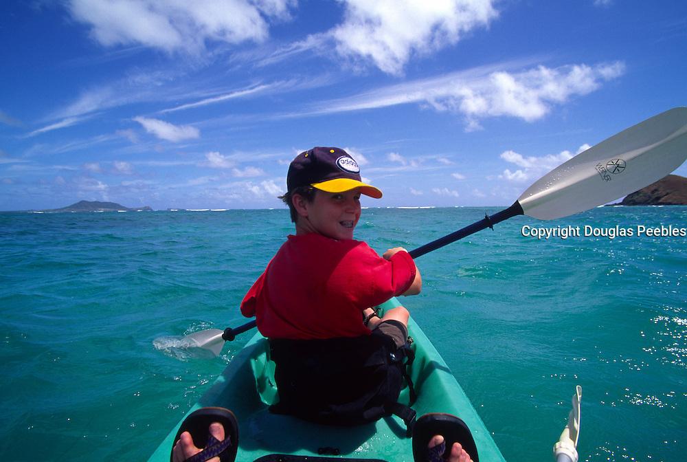 Kayaking, Lanikai, Oahu, Hawaii, USA<br />