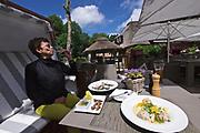 Sylt, Germany. Kampener Vogelkoje. Sylter Royal oysters and Königsberger Klopse.