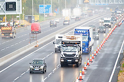 ©Licensed to London News Pictures 23/10/2020  <br /> Wrotham, UK. Dangerous driving conditions for drivers on the M20 in Kent today with wet and windy weather across large parts of the UK. Photo credit:Grant Falvey/LNP