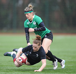 Wales women's Lisa Neumann<br /> <br /> Photographer Mike Jones/Replay Images<br /> <br /> International Friendly - Wales women v Ireland women - Sunday 21st January 2018 - CCB Centre for Sporting Excellence - Ystrad Mynach<br /> <br /> World Copyright © Replay Images . All rights reserved. info@replayimages.co.uk - http://replayimages.co.uk