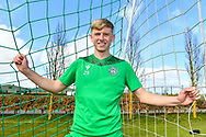 Josh Doig (#25) of Hibernian FC during the press conference for Hibernian FC at the Hibernian Training Centre, Ormiston, Scotland on 9 April 2021, ahead of their SPFL Premiership match with Rangers.