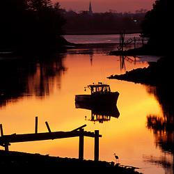 Sagamore Creek just after sunset.  Portsmouth, NH.