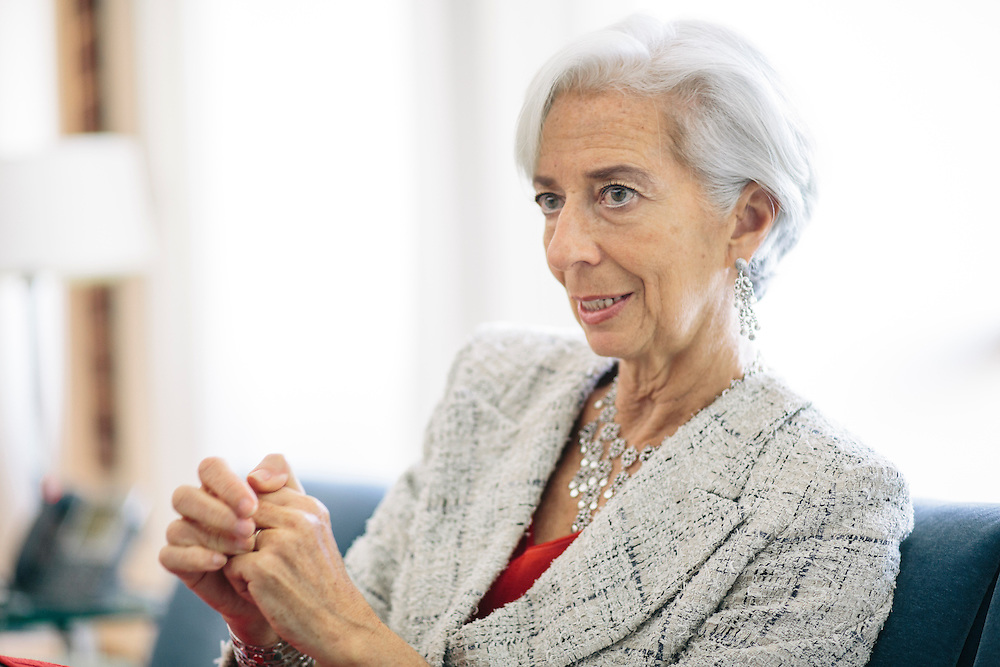 DECEMBER 15, 2015, WASHINGTON, DC  - Christine Lagarde, Managing Director of the International Monetary Fund, photographed in her office in Washington, D.C.