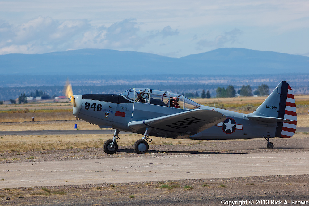 Fairchild PT19 Cornell taxiing at the Airshow of the Cascades.