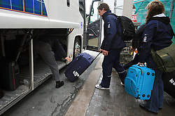 Anze Kopitar at Slovenian National team packing and going from Citadel Hotel to the Halifax airport, when they finished with games at IIHF WC 2008 in Halifax, on May 11, 2008, Canada. (Photo by Vid Ponikvar / Sportal Images)