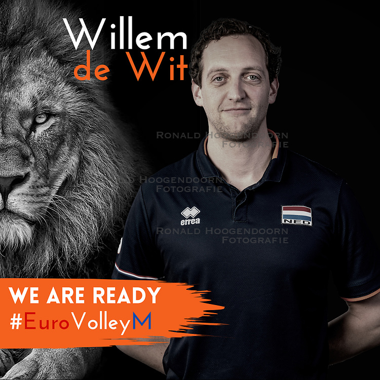 Willem de Wit of Netherlands, Photoshoot selection of Orange men's volleybal team season 2021on may 11, 2021 in Arnhem, Netherlands (Photo by RHF Agency/Ronald Hoogendoorn)