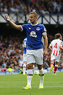 Phil Jagielka of Everton asks for the ball. Premier league match, Everton v Stoke city at Goodison Park in Liverpool, Merseyside on Saturday 27th August 2016.<br /> pic by Chris Stading, Andrew Orchard sports photography.