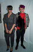 ALEX COLLINS; KIERAN PARTISE, Maria Grachvogel dinner during London Fashion week. Shoreditch Beach Blanket Babylon. Bethnall Green Rd. London.  15 September 2008 *** Local Caption *** -DO NOT ARCHIVE-© Copyright Photograph by Dafydd Jones. 248 Clapham Rd. London SW9 0PZ. Tel 0207 820 0771. www.dafjones.com.