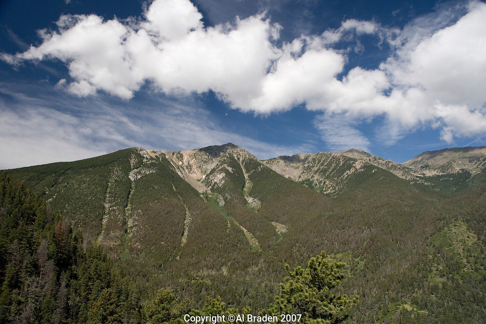 Mountain peaks at Hayden Pass near Coaldale, Colorado