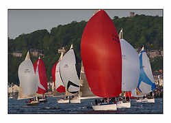 Racing at the Bell Lawrie Yachting Series in Tarbert Loch Fyne ..The start of the Bell Lawrie Yachting Series from Gourock overnight to Tarbert Loch Fyne...Swan 45 Fever GBR945R leads class 1 down the Clyde..