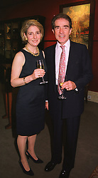 The EARL & COUNTESS ALEXANDER OF TUNIS at a party in London on 1st June 1999.MSS 15