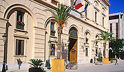 Post office building in Trapani, Sicily, Italy