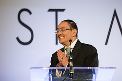 © Licensed to London News Pictures . 28/07/2016 . Manchester , UK . SIR HOWARD BERNSTEIN speaks at the launch of the St Michael's city centre development , at the Lord Mayor's Parlour in Manchester Town Hall . Backed by The Jackson's Row Development Partnership (comprising Gary Neville , Ryan Giggs and Brendan Flood ) along with Manchester City Council , Rowsley Ltd and Beijing Construction and Engineering Group International , the Jackson's Row area of the city centre will be redeveloped with a design proposed by Make Architects . Photo credit : Joel Goodman/LNP