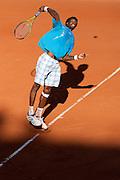 Roland Garros. Paris, France. 24 Mai 2010..Le joueur francais Gael MONFILS contre Dieter KINDLMANN...Roland Garros. Paris, France. May 24th 2010..French player Gael MONFILS against Dieter KINDLMANN..
