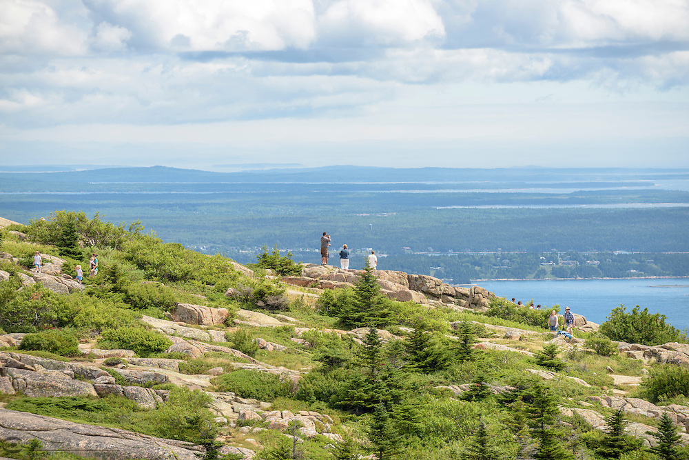 View From the Summit, Cadillac Mountain, Acadia National Park, Maine.