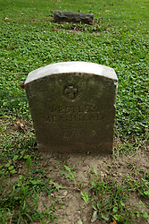 26 August 2017:   A part of the History of McLean County Illinois.<br /> <br /> Tombstones in Evergreen Memorial Cemetery.  Civic leaders, soldiers, and other prominent people are featured.<br /> <br /> Section 16 - Veterans Section<br /> Westley Meauhead<br /> Illinois<br /> Private 370 INF<br /> 93 DIV<br /> July 20, 1929