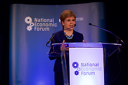 Nicola Sturgeon speaking at the National Economic Forum, Corn Exchange, Edinburgh pic copyright Terry Murden @edinburghelitemedia
