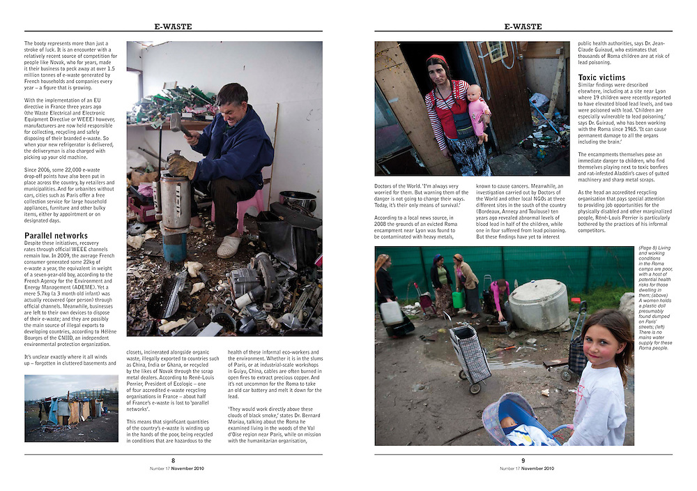 Assignment. Roma survive by 'recycling' the city's e-waste, make a living on the margins of French cities. (France)