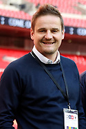 AFC Wimbledon manager Neal Ardley smiling during the The FA Cup 3rd round match between Tottenham Hotspur and AFC Wimbledon at Wembley Stadium, London, England on 7 January 2018. Photo by Matthew Redman.