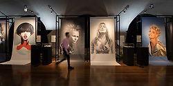 © Licensed to London News Pictures. 01/11/2016. London, UK. Photographs of models, including Kate Moss and Linda Evangelista, highlight the work of hair stylist Sam McKnight at the 'Hair by Sam McKnight' exhibition at Somerset House. The show, which runs from 2nd November, 2016 to 12th March, 2017, celebrates the career of fashion's favourite hair stylist. Photo credit: Peter Macdiarmid/LNP