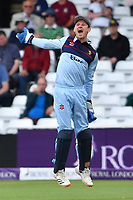 Cricket - 2021 Royal London 50-over Cup - Final - Glamrogan vs Durham - Trent Bridge<br /> <br /> Cameron Bancroft of Durham celebrates catching Kiran Carlson of Glamorgan.<br /> <br /> COLORSPORT/Ashley Western
