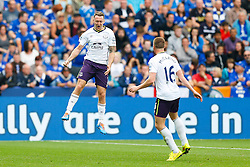 Aidan McGeady of Everton celebrates scoring a goal to give his side a 0-1 lead - Photo mandatory by-line: Rogan Thomson/JMP - Mobile: 07966 386802 16/08/2014 - SPORT - FOOTBALL - Leicester - King Power Stadium - Leicester City v Everton - Barclays Premier League