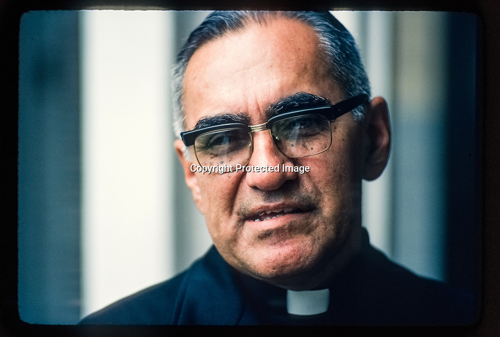 Archbishop Oscar Romero in San Salvador July 1979. ©Leif Skoogfors