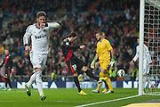Sergio Ramos headed goal celebration