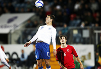 Fotball , 10. oktober 2011 , U21  EM-kvalifisering<br /> Norge - England 1-2<br /> Euro qual. U21<br /> Norway - England<br /> Gary Gardner , England<br /> Håvard Nordtveit , Norge og Borussia Mönchengladbach