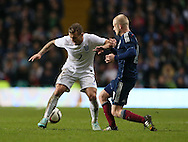 Scotland's Steven Naismith tussles with England's Jack Wilshere<br /> <br /> - International Friendly - Scotland vs England- Celtic Park - Glasgow - Scotland - 18th November 2014  - Picture David Klein/Sportimage