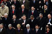 New Jersey Governor Chris Christie stands with other governors during the 68th President Inaugural Ceremony on Capitol Hill January 20, 2017 in Washington, DC. Donald Trump became the 45th President of the United States in the ceremony.