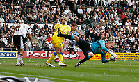 Photo: Steve Bond.<br />Derby County v Leeds United. Coca Cola Championship. 06/05/2007. Caspar Ankergren gathers a Derby cross