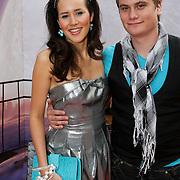 NLD/Amsterdam/20080716 - Premiere Wall-E, Charlene Meulenberg en partner