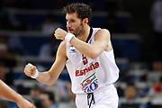 DESCRIZIONE : Kaunas Lithuania Lituania Eurobasket Men 2011 Quarter Final Round Spagna Slovenia Spain Slovenia<br /> GIOCATORE : Rudy Fernandez<br /> CATEGORIA : esultanza<br /> SQUADRA : Spagna Spain<br /> EVENTO : Eurobasket Men 2011<br /> GARA : Spagna Slovenia Spain Slovenia<br /> DATA : 14/09/2011<br /> SPORT : Pallacanestro <br /> AUTORE : Agenzia Ciamillo-Castoria/ElioCastoria<br /> Galleria : Eurobasket Men 2011<br /> Fotonotizia : Kaunas Lithuania Lituania Eurobasket Men 2011 Quarter Final Round Spagna Slovenia Spain Slovenia<br /> Predefinita :
