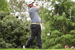 May 5, 2018 - Charlotte, NC, U.S. - CHARLOTTE, NC - MAY 05: JB Holmes tees off during the 3rd round of the Wells Fargo Championship on May 05, 2018 at Quail Hollow Club in Charlotte, NC. (Photo by William Howard/Icon Sportswire) (Credit Image: © William Howard/Icon SMI via ZUMA Press)