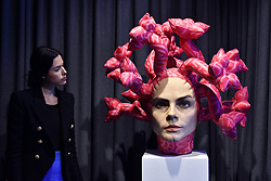 March 27, 2019 - London, London, United Kingdom - Cara Delevingne sculpture 'Olympe' unveiled at JD Malat Gallery, artist Aspencrow's latest masterpiece.The hyper realistic 50kg work took six months to make and is valued at £30,000.... Cara Delevingne 'Olympe' sculpture. (Credit Image: © Nils Jorgensen/i-Images via ZUMA Press)