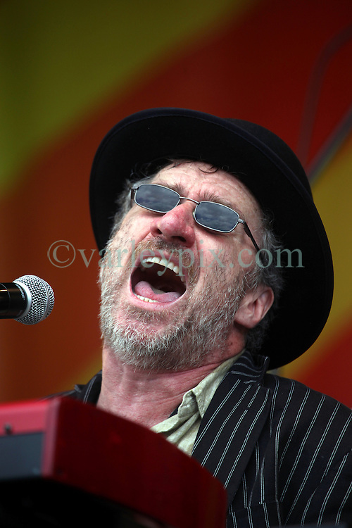 28 April 2012. New Orleans, Louisiana,  USA. .New Orleans Jazz and Heritage Festival. .Jon Cleary plays the Acura stage..Photo; Charlie Varley.
