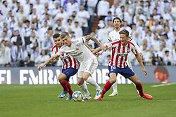 Real Madrid´s Toni roos and Atletico de Madrid´s Marcos Llorente during La Liga Real Madrid v Atletico de Madrid football match at Santiago Bernabeu Stadium in Madrid, Spain. February 01, 2020. Photo by David Jar/AlterPhotos/ABACAPRESS.COM